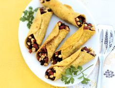 Oven-Crisp Black Bean and Corn Flautas | Vegetarian Times
