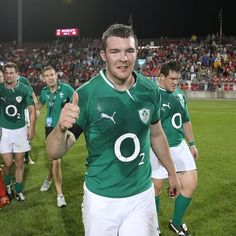 Peter O'Mahony, who said he 'loved every minute' of captaining Ireland on tour, gives the thumbs up after the 40-14 win