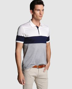 Polo de hombre de manga corta Polo Rugby Shirt, Mens Polo T Shirts, Polo Shirts, My T Shirt, Shirt Jacket, Polo Design, Men Looks, Lacoste, Shirt Designs
