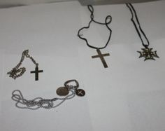 4 Vintage Pendant Necklaces, Nice Accessories to Any Outfit, Jewelry, Crosses, Crucifix, Religion, Religious, Easter Gifts, Christmas Gifts