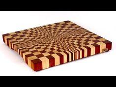 ▶ Making a 3D end grain cutting board №1 (Изготовление 3D торцевой разделочной доски №1) - YouTube