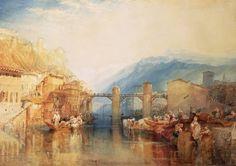 Joseph Mallord William Turner 'Grenoble Bridge', 1824 - Watercolour on paper -   -  530 x 737 mm © The Baltimore Museum of Art: