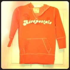 I just discovered this while shopping on Poshmark: ⬇️Aeropostale Coral V-Neck Hoodie SZ S. Check it out!  Size: S