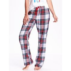 Old Navy Printed Flannel PJ Bottoms ($17) ❤ liked on Polyvore featuring intimates, sleepwear, pajamas and old navy