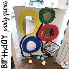 Birthday games for a Birthday Party on dramatic play. Perfect for a preschool & pre-k classroom. Wedding Party Games, Holiday Party Games, Birthday Party Games, Birthday Crafts, Preschool Birthday, Birthday Activities, Halloween Birthday, Birthday Ideas, Toddler Party Games
