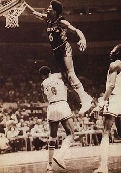 Julius Erving Falling from the roof...