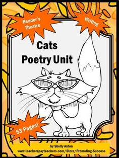 This poetry unit features a fun cat theme! It has several reading, writing, speaking, and listening activities for lower elementary student - 53 pages in all!