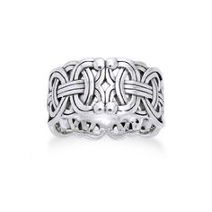 """Viking Braided Wedding Band Borre Knot Norse Celtic Sterling Silver Ring Size Wide and Thick Weight is Grams (varies with size) Nickel Free Sterling Silver Marked (for Sterling Silver) Borre """"ring braid"""" Celtic Wedding Rings, Wedding Bands, Celtic Rings, Viking Rings, Viking Wedding, Celtic Knots, Vikings, Viking Braids, Braided Ring"""