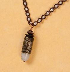 Celtic Pearl bullet necklace, Etched bullet jewelry. Bullet Necklace, Bullet Jewelry, Shotgun Shell Jewelry, Bullet Designs, Diy Jewelry, Jewelry Making, Bullet Casing, Bullets, Celtic Knot