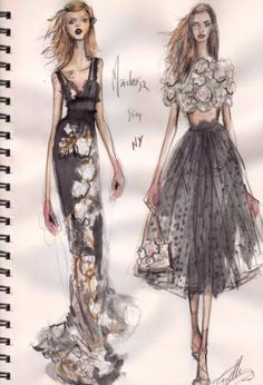 via By Sasha - Marchesa sketch