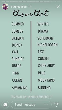 Would You Rather Questions, Pink Ocean, Chips Ahoy, Batman And Superman, Word Tattoos, Summer Winter, Music Quotes, Comedy, Drama