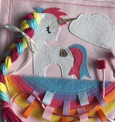 Cute unicorn quiet book page