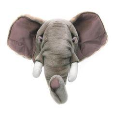 Cabeza de peluche elefante - La Fiesta de Olivia