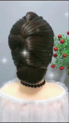 Hairdo For Long Hair, Bun Hairstyles For Long Hair, Braided Hairstyles Tutorials, Hairstyle Braid, Beautiful Hairstyles, Party Hairstyles, Quick Hairstyles, Front Hair Styles, Medium Hair Styles