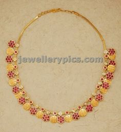 modern kasulaperu short necklace with rubies