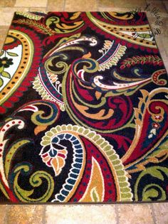 i LOVE my new paisley rug ... happy birthday to me!