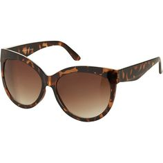 TOPSHOP Drop Lense Cateye Sunglasses ($32) ❤ liked on Polyvore