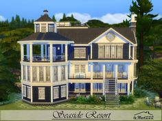 Seaside Resort is a lovely house perfect for vacation, built on 30x20 lot in Windenburg. Found in TSR Category 'Sims 4 Residential Lots'