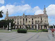 La Habana -Gran Teatro de La Habana, sede del Ballet Nacional de Cuba, de estilo renacentista con elementos barrocos (1907-1915).