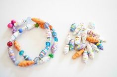 Rolled paper beads tutorial.