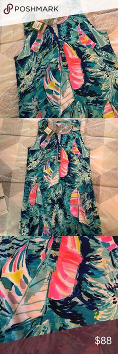 NWT Sparkling Blue Hey Bay Bay Essie Dress $88 NWT Lilly Pulitzer Sparkling Blue Hey Bay Bay Essie Dress. Lilly Pulitzer Dresses