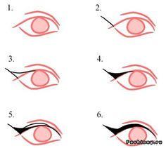 How to cat eye ~ {Because I can't ever get it right}