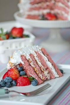 Berry Almond Crunch Cake by hungryrabbitnyc