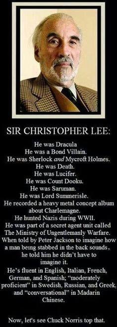 Christopher Lee!