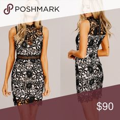 dd5edac1607 Black Crochet Lace Dress ❤️Super Gorgeous and sexy black lace dress ❤ .  Perfect