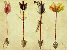 arrows. Would be great all together as a tattoo, especially bc of my bit of Native American blood!!
