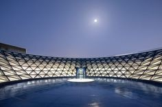 A rooftop space was designed for looking at the sky at the Shanghai Astronomy Museum. Solar Telescope, New York Studio, New Museum, Immersive Experience, Ground Floor Plan, Main Entrance, Architect Design, Design Museum, Worlds Largest
