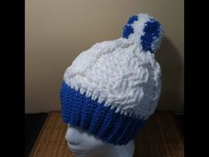 Crochet Adult Cable Hat or Beanie - YouTube