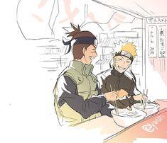 Although, other Jiraiya and Kakashi had much much more spotlight to them than Iruka. Hinata Hyuga, Kakashi Hatake, Naruto E Boruto, Sasuke, Anime Naruto, Kid Naruto, Naruto Family, Manga Anime, Anime Ninja