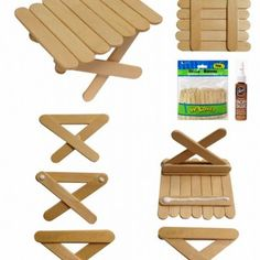 Popsicle Picnic Table (Art Projects for Kids) My love affair with popsicle sticks continues. This time I've found a way to use the mini sticks to make a picnic table. The best news? No cutting! Just stock up on these mini sticks and little Aleene Popsicle Stick Houses, Popsicle Crafts, Craft Stick Crafts, Wood Crafts, Crafts For Kids, Craft Sticks, Mini Craft, Resin Crafts, Diy Projects With Popsicle Sticks