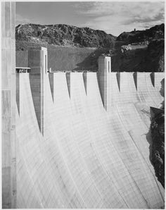 Close-Up Photograph of Boulder Dam | photographer: Ansel Adams, Ansel Adams Photographs of National Parks and Monuments, documenting the period ca. 1933 – 1942 (pinned by haw-creek.com)