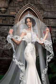 Lace bridal veil, beautiful bridal veil, cathedral veil, lace veil wedding veils – wedding ideas – Famous Last Words Lace Mermaid Wedding Dress, Mermaid Dresses, Lace Dress, Wedding Lace, Wedding Dress Veil, Wedding Tiara Veil, Queen Wedding Dress, Bride Veil, Wedding Ceremony