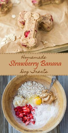 Organic Dog Food - Top 50 Chosen By Experts 2018 - Doggie Wo.-Organic Dog Food – Top 50 Chosen By Experts 2018 – Doggie Woof Homemade Strawberry Banana Dog Treats. Loaded with strawberries, bananas, peanut butter, and oats. Puppy Treats, Diy Dog Treats, Homemade Dog Treats, Healthy Dog Treats, Homemade Gifts, Healthy Pets, Frozen Dog Treats, Gourmet Dog Treats, Homemade Food