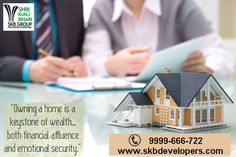"""""""Real estate is an imperishable asset, ever increasing in value. It is the most solid security that human ingenuity has devised. It is the basis of all security and about the only indestructible security."""" Visit - http://www.skbdevelopers.com Call us - 9999-666-722  #realestate #apartment #NH24 #property_investment #profit #SKBGROUP"""