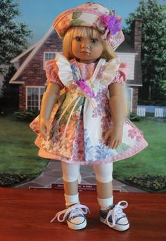 """Adorable Five-piece """"SWEET NOTHINGS"""" Dress Ensemble for your Kidz n Cats Doll #DollswithClothingAccessories"""