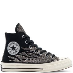 Chuck 70 Glitter Shine montante pour Femme Black/Egret/Black Converse Sneakers, High Top Sneakers, Black High Tops, Nike, Converse Chuck Taylor, All Star, Your Style, Glitter, Lemonade