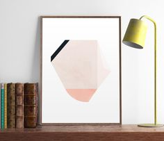 Geometric print Scandinavian art Watercolor by ShopTempsModernes