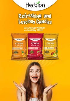 Pop in One of these Luscious Candies and Wash away that Sore Throat Pain Away ... Feel Refreshed with Herbion Cough Drops!! #Herbion #Cough #Drops #Candies #Sore #Throat #Reliever