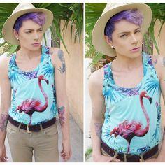 #lookbook #pinkflamingos #divine #androgyny #makeup #gayboy #summer #lavanderhair