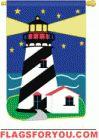 Night Island applique House Flag - 2 left