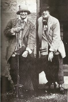 Coco Chanel and Vera Bate in Scotland, 1928