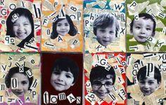 Leuk! Een collage maken met de letters van je voornaam. Of een idee voor een verjaardagskalender?