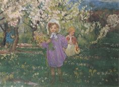 Children with Spring Flowers - Henri Lebasque