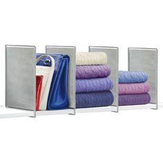 www.target.com p lynk-vela-shelf-dividers-set-of-4-closet-organizer-platinum - A-16512183