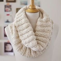 13 Chunky Knit Scarves You Can Actually Make via Brit + Co.
