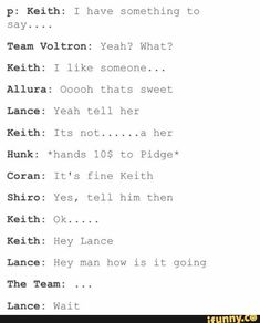 VOLTRON CRACK PICS (mostly klance) I'll stop when klance becomes a thing Updated everyday with memez Voltron Klance, Voltron Comics, Voltron Memes, Voltron Fanart, Form Voltron, Voltron Ships, Mundo Nerd, Klance Comics, Hey Man